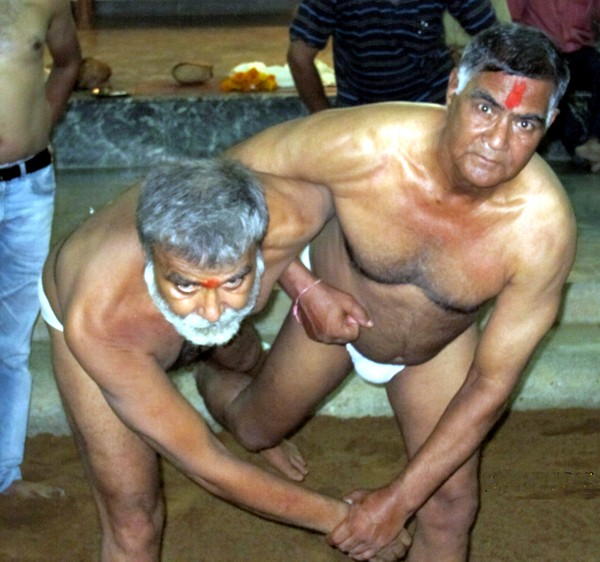 Traditional Wrestling Kusti held at Maruti Vyayam Mandir