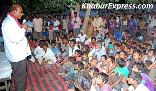 Bikaner BJP leader Gopal Gahlot addressing Aud-Bhaat Community