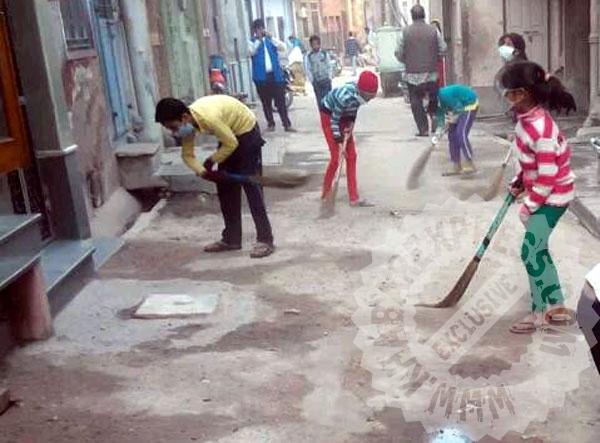 बच्चों ने जगाई सफाई के लिए अलख