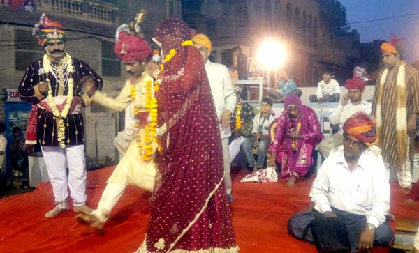A scene from Amarsingh Rathore, Rammat Played at Acharyon Chowk, Bikaner