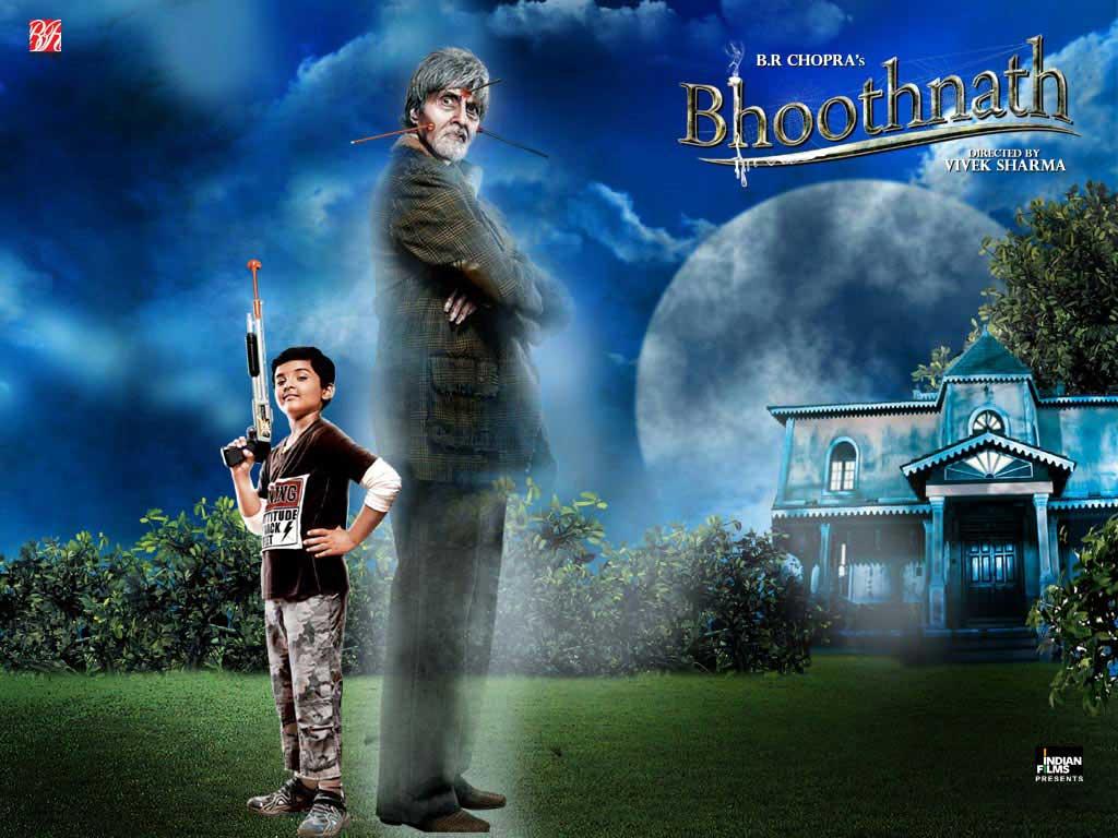 Amithab Bachchan and Master Aman Siddiqui in movie Bhoothnath