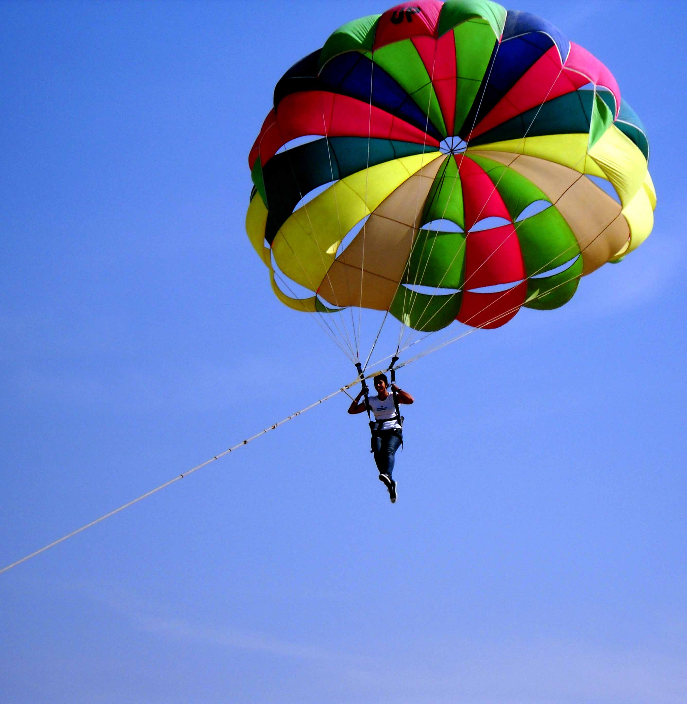 Rajasthan Chapter of the National Adventure Foundation-Exciting parasailing flight of youth