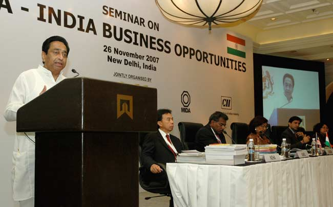 The Union Minister of Commerce and Industry, Shri Kamal Nath addressing at the seminar on Malaysia-I