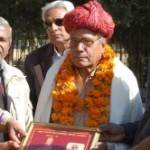 Dr Shree Lal Mohata honored with Dr L P Tessitory Award