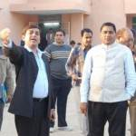 DM Prithviraj and UIT Chairman Ahemad during preparation of CM Bikaner visit