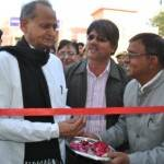 CM Gehlot inaugurating Exhibition held by P R Office Bikaner