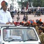 Virendra Beniwal taking Parade at Karni Singh Stadium on 67th Independance Day