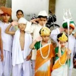 Children in Representing India by Various Dress on Independence day