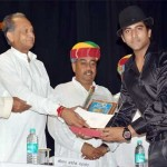 Indian Idol Sandeep Acharya Receiving Sangeet Natak Award