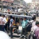 Auto Rickshaw Drivers Jammed the Railway Station Road in Bikaner