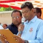 V Sarvan Kumar during State level Swimming Competition