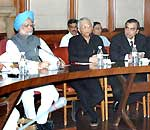 Dr. Manmohan Singh meeting the captains of Indian Industry