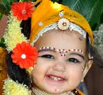 Beautiful Baby Radha during Radha Krishan Competition