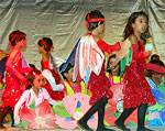 MP Punia inaugurating the annual function of Bafna School, children giving cultural performance