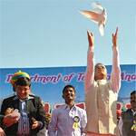 Chief Whip Virendra Beniwal and DM Dr Prithviraj Ingaugrating Camel Festival 2011 held at Bikaner