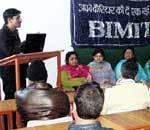Laxman Singh Shekhawat addressing in a Ban on Smoking confrence at Bimit College, Ganganagar