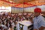 Devi Singh Bhati addressing to Gadiyala villagers on starting of 33/11 KV sub-station