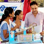 Students exhibits their science model in science fair held at Bikaner