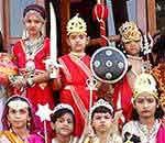 Children in Fancy Dress on the Diwali celebration at Central Academy School Bikaner
