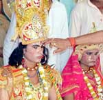 Rajtilak to Rama during religious event held  at Ram Temple Churu