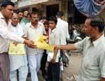 Sevadal worker inviting peoples for Sonia Gandhi Rally at Palana, Bikaner