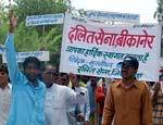 Sinthal Villagers performing at collectrate against corruption in NAREGA works