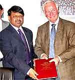 Dr Parag Diwan, VC of UPSC  and Dr. David Johnston, President, UWL while Signing the MOU