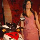 Film Star Riya Sen at the launch of a Battery bike