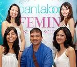 Pantaloons Femina Miss India South 2010 Hyderabad Round Winners with Fashion Designer Prasad Bidappa