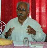 Gajendera Singh addressing to journalist about 1008 Kundiya Ashvemedh Yagya at Bikaner