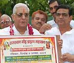Transport Minister Braj Kishore Sharma Launching Poster of Gaur Brahman Youth Intro-Confere
