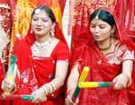 Students celebrating Yuva Ekta Saptah at Saraswati Girls College, Hanumangarh