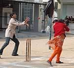 Girls enjoying in Cricket for Fun competition held at Binnani Girls College, Bikaner