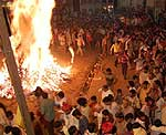 Holi Fire in Bikaner City