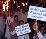 Mashaal Rally on 28th day of agitation for High court bench in Bikaner