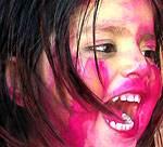 Happy Holi - Wishing Indian Kid