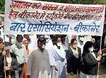lawyers move for Silent Rally in demand of High Court Bench at Bikaner