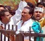Bharat Bandh - Nandlal Vyas and BJP Worker