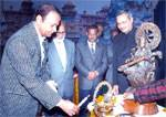 Virendra Beniwal and VC Veterinary University inaugurating International Symposium on Biodiversity