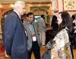 Mr Agarwal, Commissioner Rajasthan Foundation discussing with NRI Investor on Bhartiya Pravasi Divas