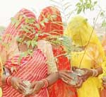 Villager women also took interest to plant tree at Udayramsar under Harit Rajasthan project