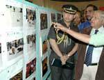 Rajasthan Governer S K Singh Visitingthe Photo Gallery of the Journalist at Mount Abu