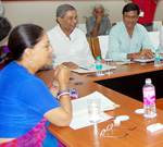 CM taking a cabinet meeting at Agriculture University, Bikaenr Meeting Hall