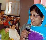 Kavita Vyas addressing in Pushkarana women awaking conference  at Bikaner