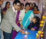 Nagendra Singh opening free dance training camp held at Step-by-step school, Bikaner