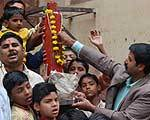 The cultural rich city Bikaner starts its Holi festival celebration with thumb(Pillar) poojan ritual