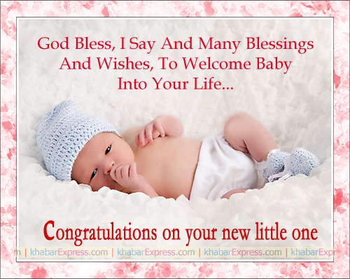 Congratulation on your new baby born
