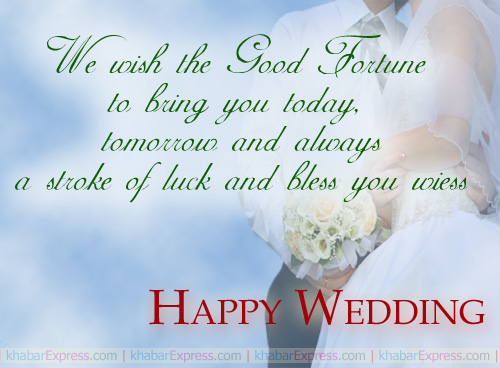 We wish the good fortune ....