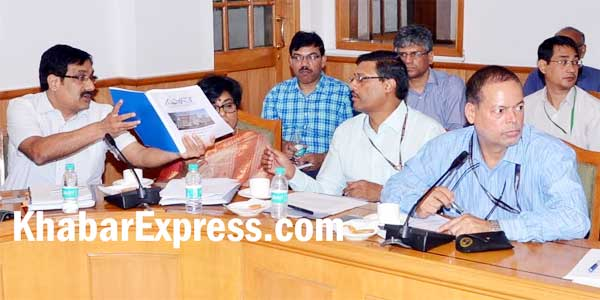 IAS Manjeet Singh and other official during the meeting