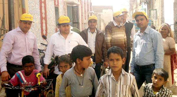Bikaner Rotarians during Puls Polio Campaign